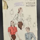 Vogue Sewing Pattern 5687 Cut Misses Blouse w/ Short or Long Sleeves Size 16