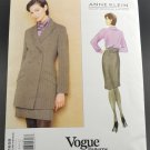 Vogue Sewing Pattern 1658 Anne Klein American Designer Uncut Misses Jacket & Skirt Size 8-10-12