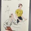 Vogue Sewing Pattern 6566 Blouse French Cuffs 1940s Size 16