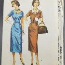 McCall's 1950s Sewing Pattern 4366 Misses Sheath Dress w/ Bolero Jacket Size 16