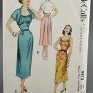 McCall's Sewing Pattern 9413 Misses Sundress & Bolero Jacket Size 16