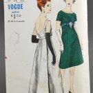 Vogue 5942 One Piece Evening Dress Empire Waist Misses Size 10