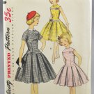 Simplicity 1496 Girl's Sewing Pattern Dress w/ Detachable Collar Size 10