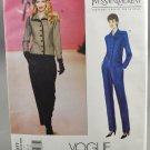 Vogue Paris Original 2077 Yves Saint Laurent Jacket Pants Misses' Size 8-10-12