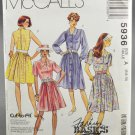 McCall's 5936 Misses' Dress Fashion Basics Sewing Pattern 1990s Size A 6-8-10