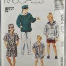 McCall's 5304 Boys' & Girls' Sweatshirt Shirt Pants Shorts Hat Size 7