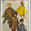 Simplicity 6651 Sewing Pattern 4 Styles of Ponchos Women Size Medium 14-16