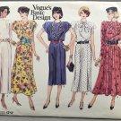 Vogue 1717 Sewing Pattern Basic Design Misses' Dress Size 8-10-12