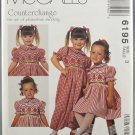 McCall's 6195 Ann Hallay Designs Girls' Dress & Jumpsuit Smocking Size 3