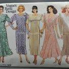 Vogue 1846 Basic Design Misses' Long Waisted Dress Size 8-10-12