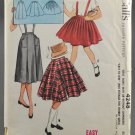 McCall's 4248 Girls' Skirts Three Styles w/ or w/o Suspenders Size 10