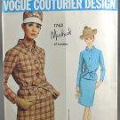 Vogue 1763 Couturier Design Michael of London Misses' Suit Pattern Size 12