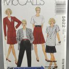 McCall's 5822 Sewing Pattern Unlined Jacket Top Skirt Pants Misses' Size 10-12