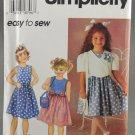 Simplicity 7067 Child's Dress Jacket Purse Sewing Pattern Size BB (5-6-6X)