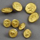 Vintage Waterbury Co Inc Gold Finish Brass Buttons Midnight Ride of Paul Revere