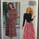 Butterick 5050 Sewing Pattern Misses' Dress Midi Long Sleeves Size 6-8-10