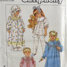 Simplicity 8943 Sewing Pattern Child's Girls' Pajamas Nightgown Robe & Hat Size M