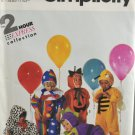 Simplicity 7475 Halloween Costume Sewing Pattern Toddlers' Variety Size A (1/2 - 4)