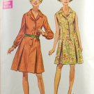 Simplicity 8003 Sewing Pattern Miss 1960s Shirtdress w/ or w/o Sleeves Size 14