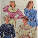 Simplicity 8026 Sewing Pattern Misses' Blouses w/ Raglan Sleeves Size HH 6-12