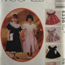 McCall's 6336 Kitty Benton Girls' Sewing Pattern Size 3 Dress