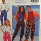 Butterick 5733 Sewing Pattern Boys' Girls' Top & Wrap Waist Pants Size 7-8-10