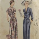 Vogue 6734 Sewing Pattern Misses' One Piece Dress 1950s Size 14