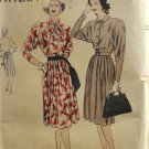 Vogue 5744 Sewing Pattern Misses' Dress w/ Pleated Skirt 1940s Size 18