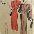 Vogue S-4075 Special Design Sewing Pattern Misses' Dress or Frock Size 40