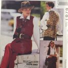 McCall's 6781 Sewing Pattern Misses' Lined Vest Blouse Skirt Pants Ascot Size 10-12-14