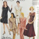 McCall's 6796 Sewing Pattern Misses' Jackets & Skirts Size 10-12-14