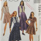 McCall's 7254 Sewing Pattern Misses' Dress & Vest Size 10-12-14