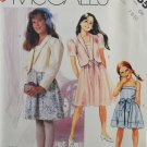 McCall's 2355 Girls' Sewing Pattern Jacket & Dress Size 7-8-10