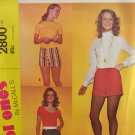 McCall's 2800 Sewing Pattern Misses' The Hot Ones Short Shorts Waist Size 27