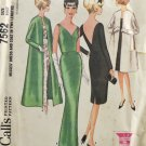 McCall's 7562 Sewing Pattern Misses' Formal Dress & Coat Size 12