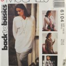 McCall's 6104 Sewing Pattern Misses' Oversized Shirt Size 10-12