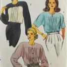 Vogue 8138 Sewing Pattern Misses' Blouse w/ Shoulder Pads Size 6-8-10