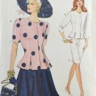 Vogue 8290 Sewing Pattern Misses' Top & Skirt 1990s Size 6-8-10