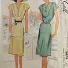 McCall 6874 Sewing Pattern Misses' Dress w/ Scalloped Yoke Size 20