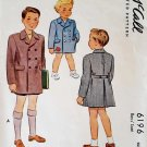 McCall 6196 Sewing Pattern Boys' 1940s Coat Size 1