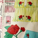Simplicity 4919 Sewing Pattern Mid-Century Kitchen Curtains w/ Applique