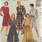 McCall's 6182 Sewing Pattern Misses' Front Buttoned Shirtwaist Dress Size 10-14