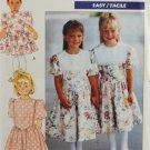 Butterick 4582 Sewing Pattern Girls' 1990s Dress Size 2-3-4