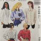 McCall's 6109 Sewing Pattern Misses' Blouse w/ Long Sleeves Size 10-12
