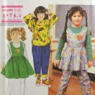 Simplicity 7466 Crayola Kids Sewing Pattern Jumper Pants & Top Children's Girls' Size A 3-6X