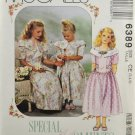 McCall's 6389 Special Moments Sewing Pattern Children's & Girls'  Dress Size 3-4-5