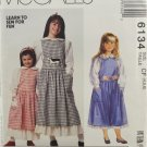 McCall's 6134 Sewing Pattern Children's & Girls' Jumper & Blouse Size 4-5-6