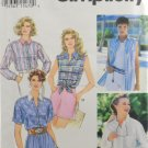 Simplicity 9014 Sewing Pattern Misses' Set of Shirt Styles Size 12-14-16