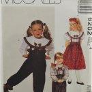 McCall's 6202 Girls' Children's Blouse Pants Skirt Angel Wears Size 4