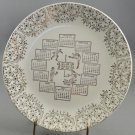 1966 White w/ Gold Edging Design Calendar Collector Plate Sports Action